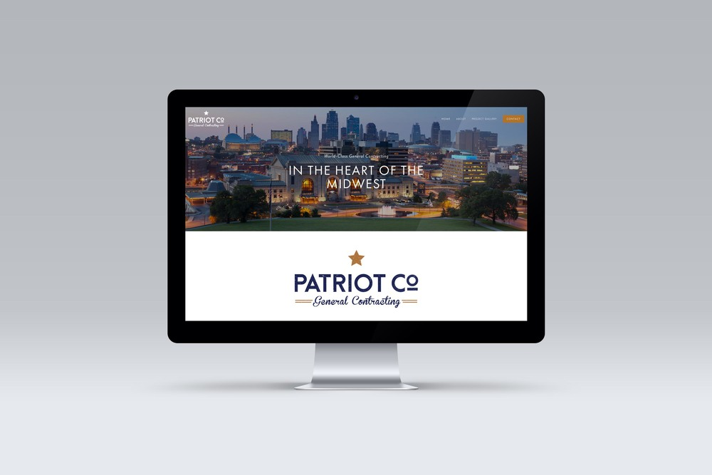 Patriot Co.'s homepage built in Squarespace