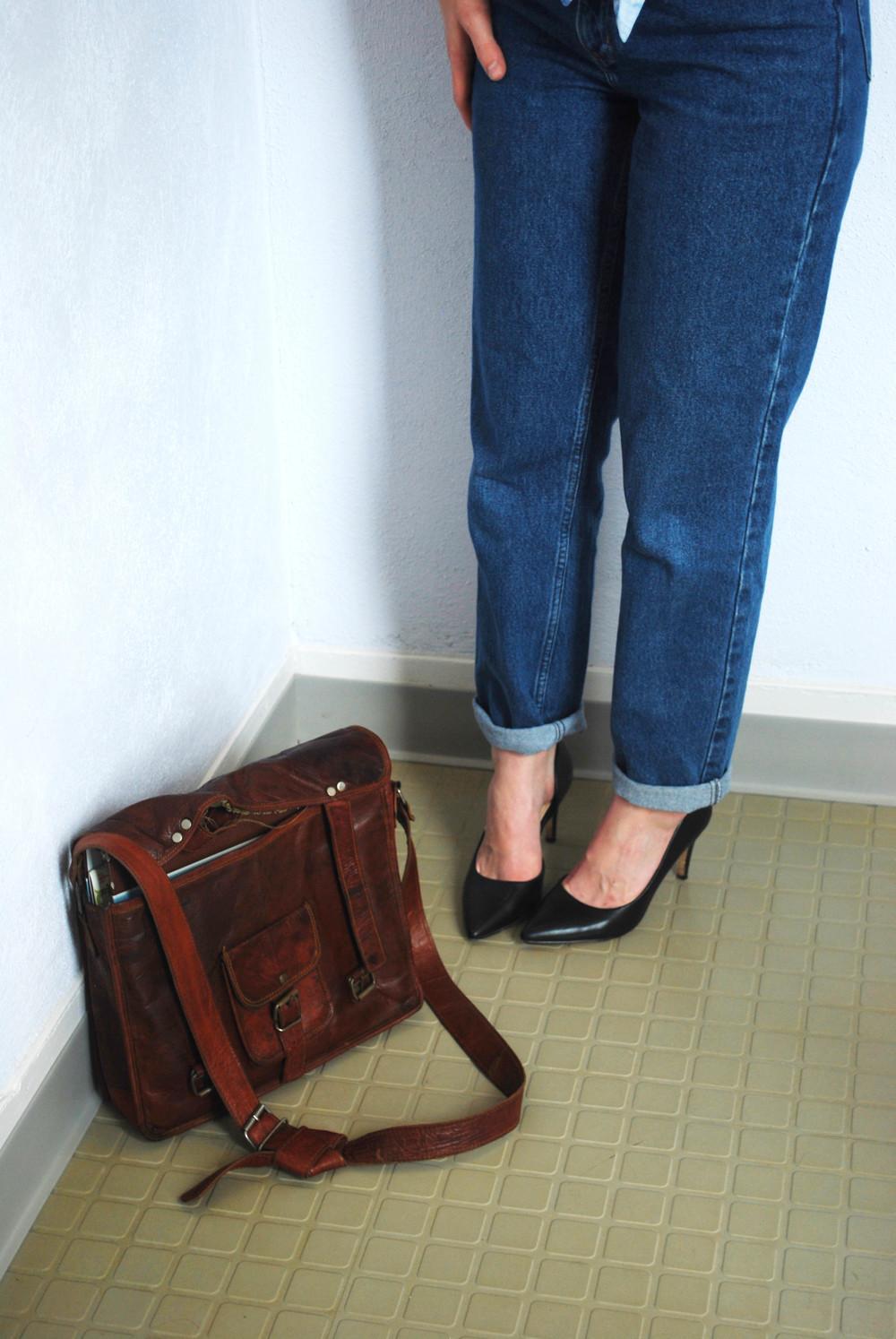 Bag: Similar Here, Heels: Similar Here