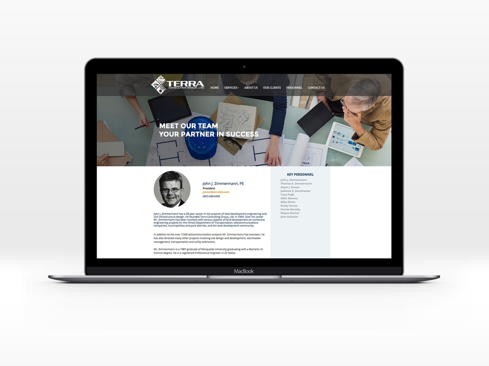 Marketing, Branding, Design in Columbia, MO | Brand and Website for Terra Consulting Group | Hoot Design Co.