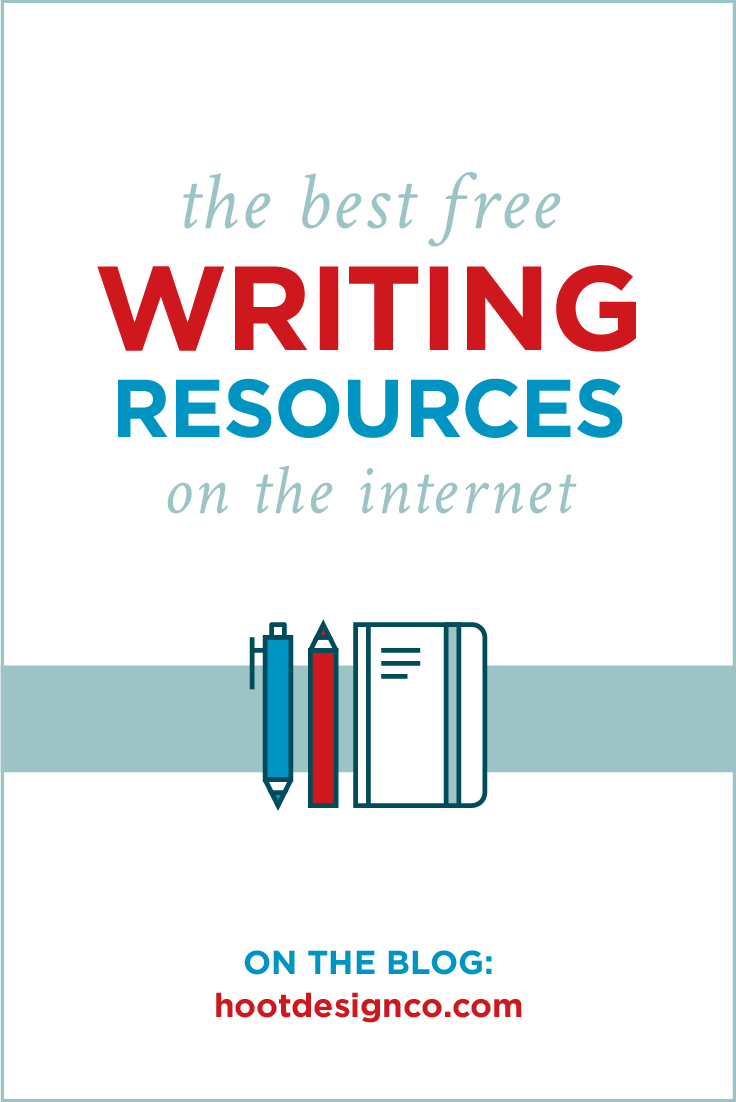 The top 5 best free writing resources on the internet. Save for future reference! | Hoot Design Co.