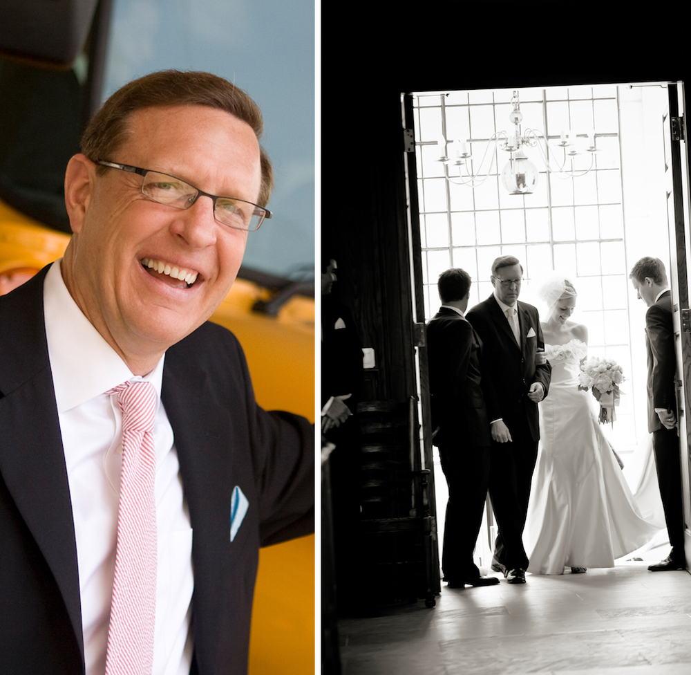 ^^^ That's my dad seven years ago at my wedding. In the picture on the right he's about to walk me down the aisle. In all honesty, he still looks the same – maybe better. I'm sure meditation has something to do with it.