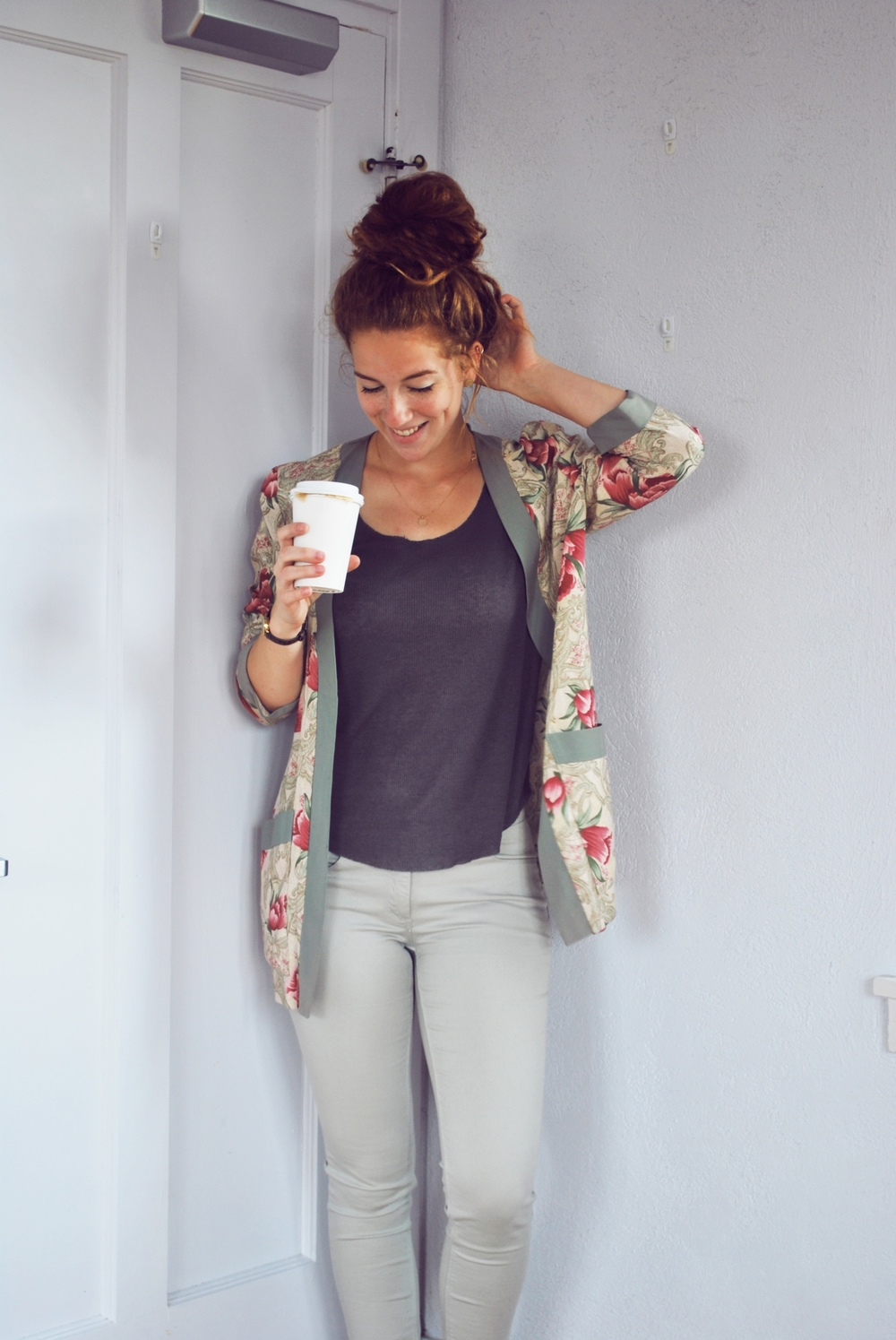 Cute creative outfit: Kimono style. Outfit of the day from Hoot Design Co! #OOTD