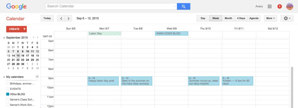 Hello, Google Calendar.
