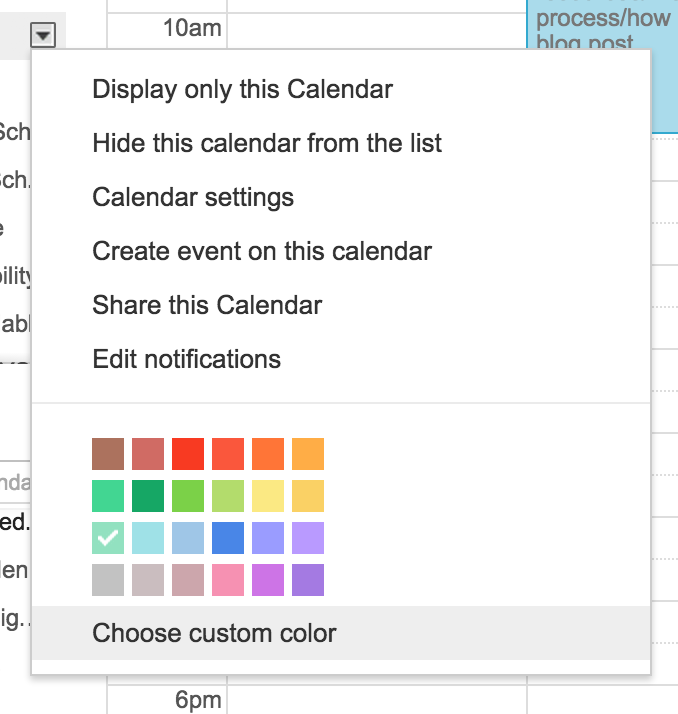 Did you know you can change the colors on Google calendar? You totally can. Here's how! | Hoot Design Co.