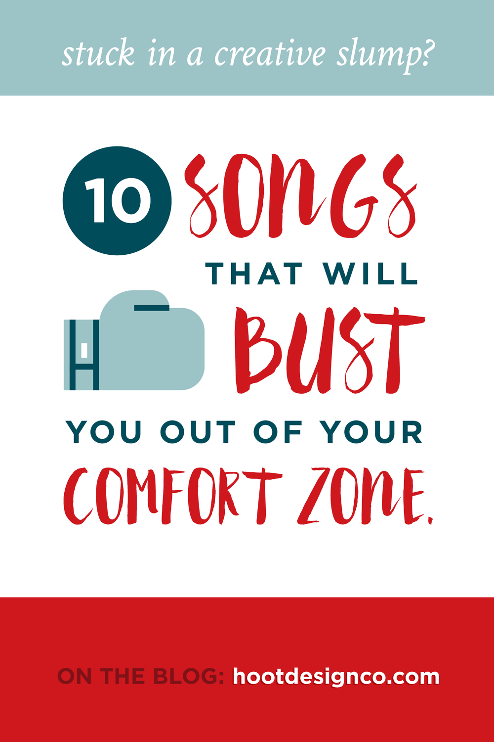 Stuck in a creative slump and need to mix it up? Need inspiration to finally push outside of the same old same old? These 10 songs are going to bust you out of your comfort zone like there's no tomorrow!