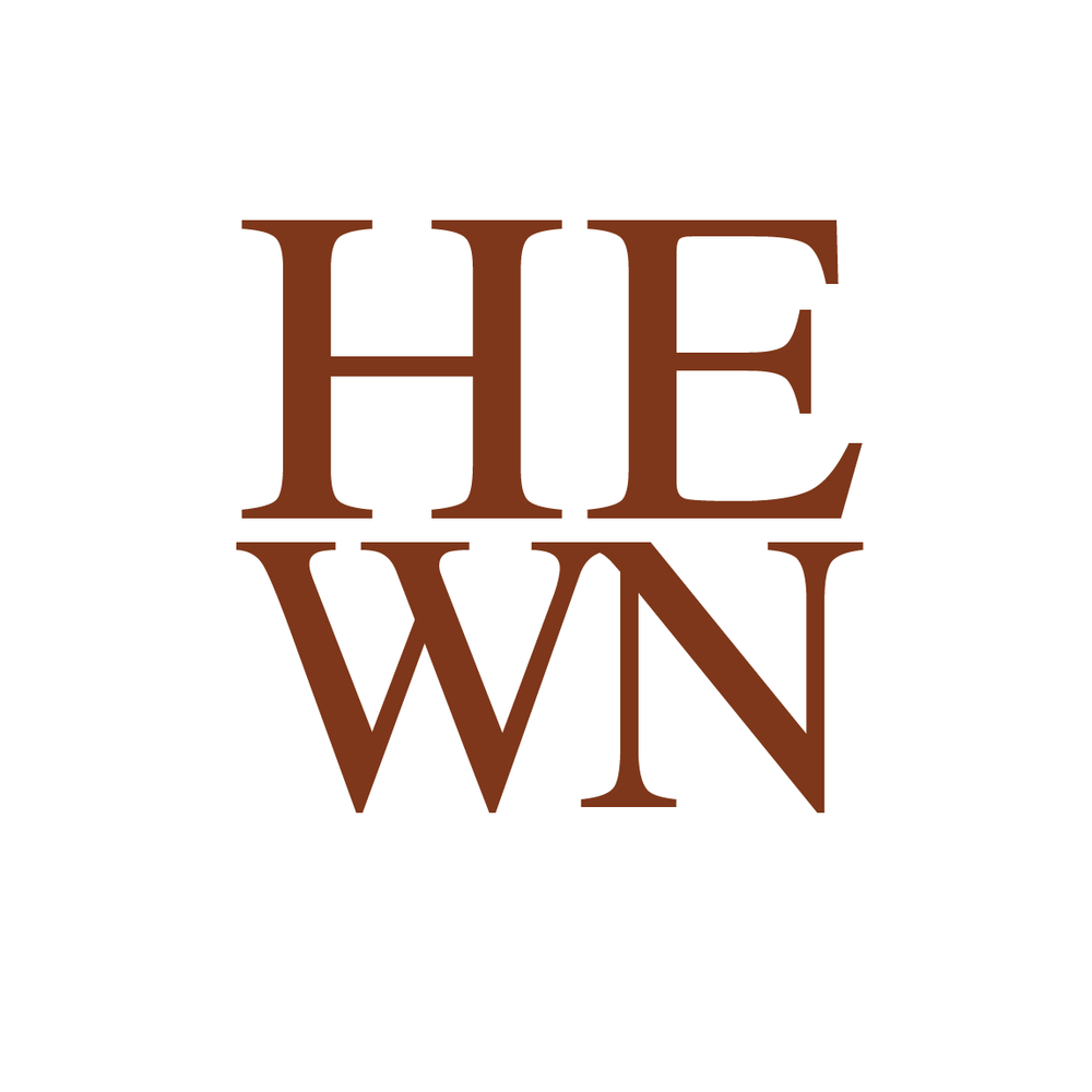 HEWN's previous logo, which focused solely on the first letter of the partners' last names.