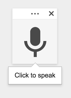 Just click on Google's microphone icon and off you go!