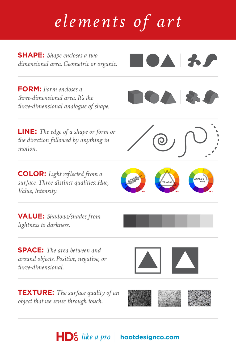 7 Elements Of Art : The elements of art hoot design co web