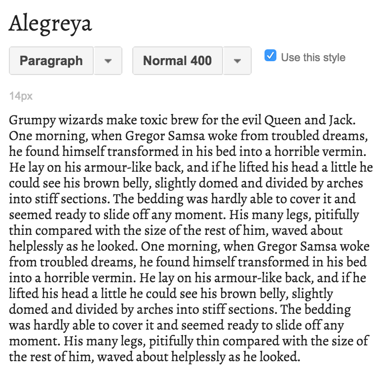 Best free serif fonts from Google – Alegreya! | Hoot Design Co.