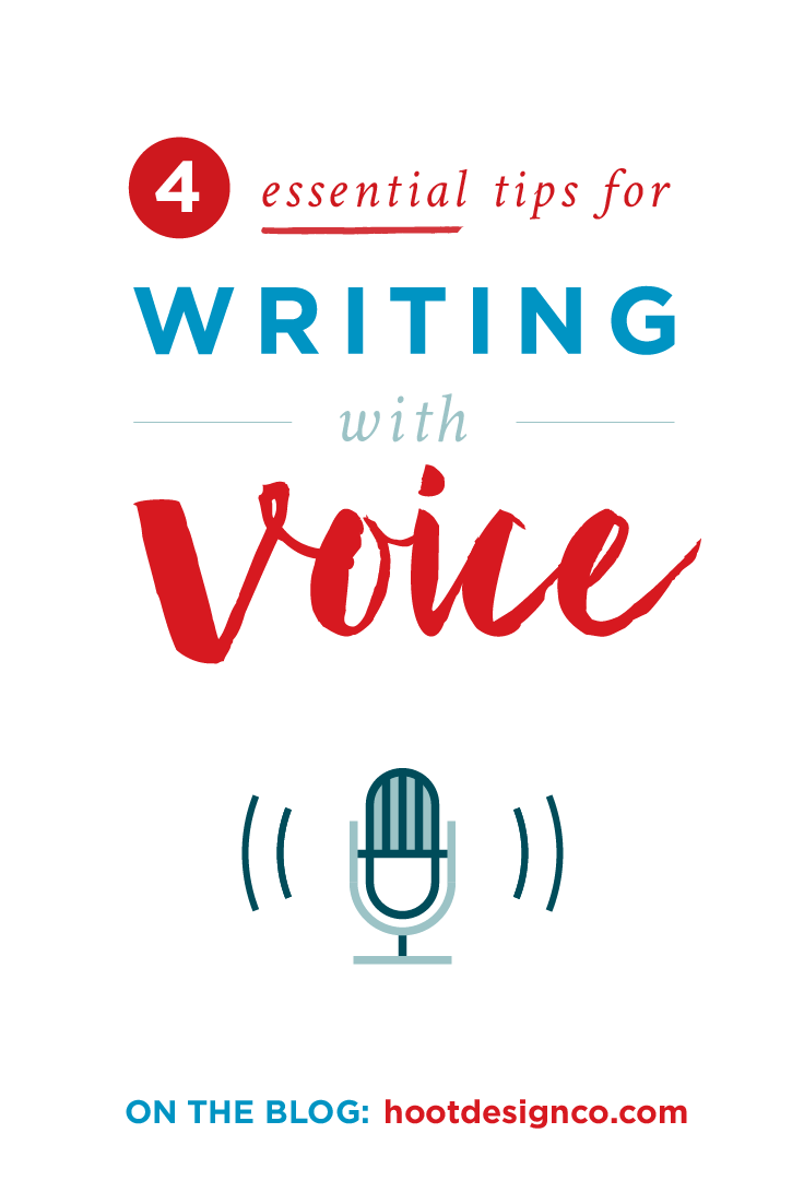 Nailing a strong voice is essential to engaging your audience – whether it's blogging, sales copy, or a biz pitch, use these tips to make your voice jump off the page! | Hoot Design Co.
