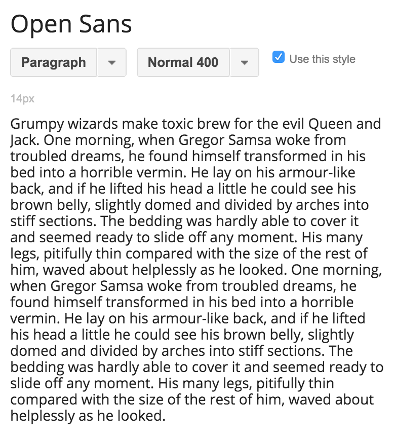 The best sans-serif fonts on Google fonts – Open Sans. This is a font of Google's own creation and perfectly embodies the friendliness, competence, and, yes, openness of Google's brand. Open Sans is super readable on screens as well as in print and has great italic and bold styles as well. | Hoot Design Co.