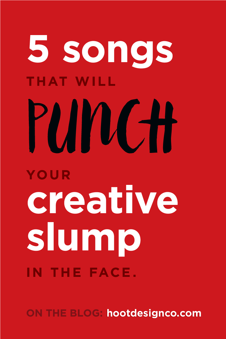 Creative slumps suck. One of the best ways to fight them off is to punch them in the face. | Hoot Design Co.