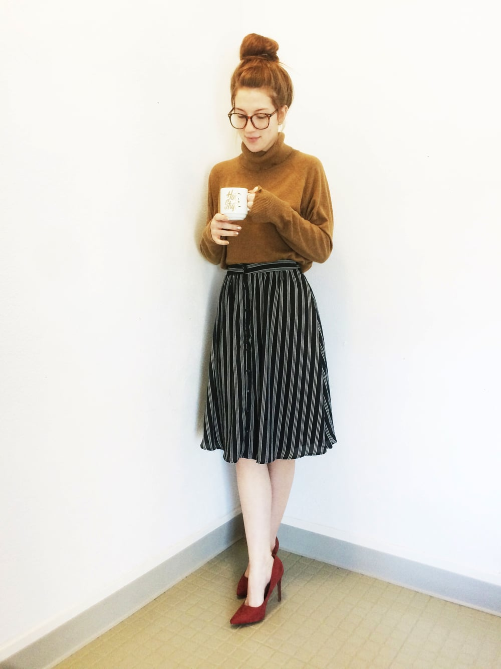 Sweater: Old Navy, Skirt & Shoes: Charlotte Russe