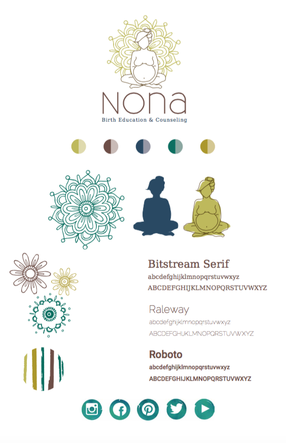 Branding and identity design for Nona Birth Education & Counseling | Hoot Design Co. web design, advertising, social media marketing in Columbia, MO