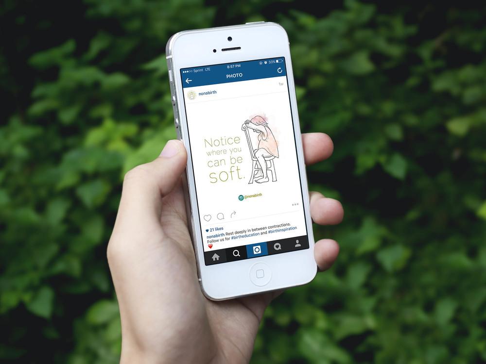 Social media marketing for Nona Birth | Hoot Design Co. web design, advertising, social media marketing in Columbia, MO