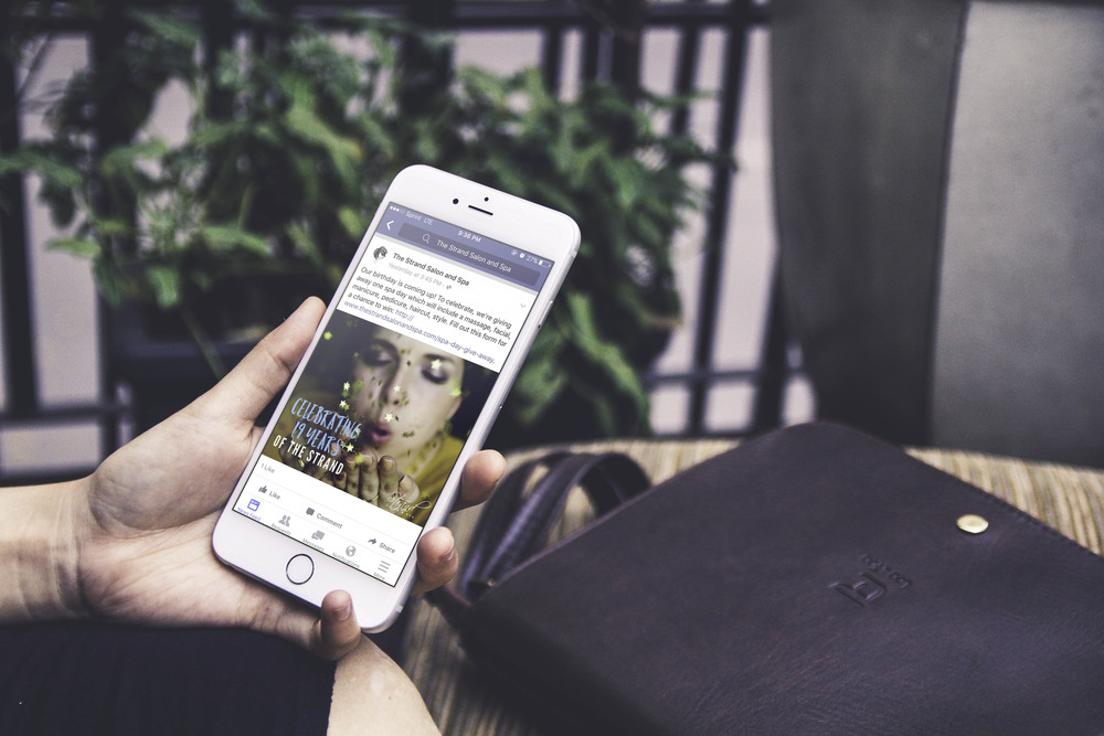 Our social media marketing services in action on The Strand's Facebook page.