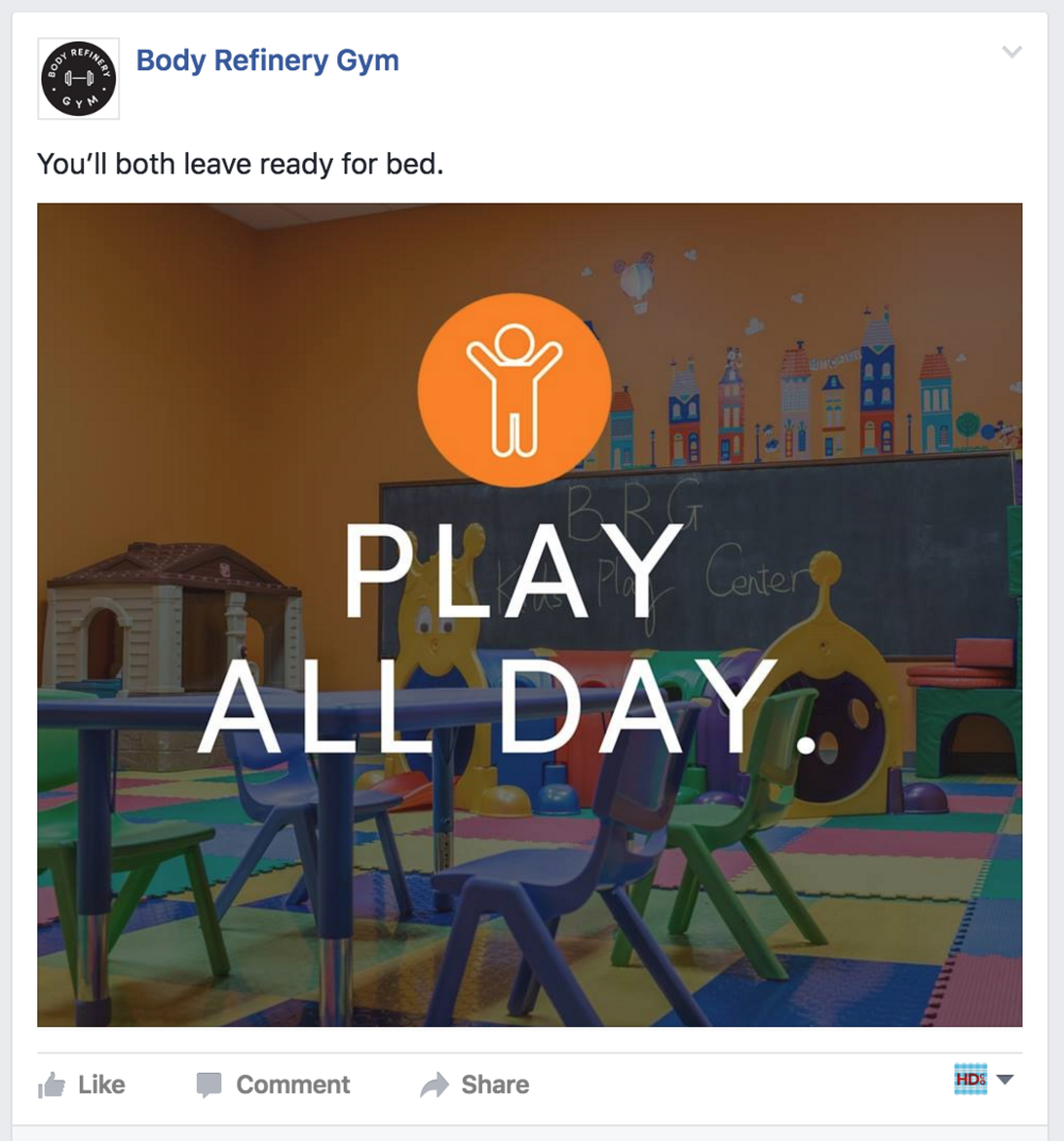 Facebook advertising for Body Refinery Gym
