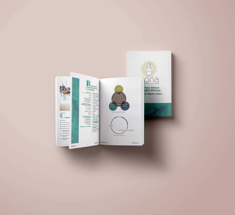 Print design for Nona Birth Education & Counseling | Hoot Design Co.