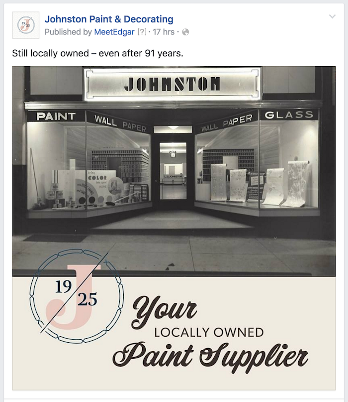 Facebook marketing for Johnston Paint & Decorating in Columbia, MO