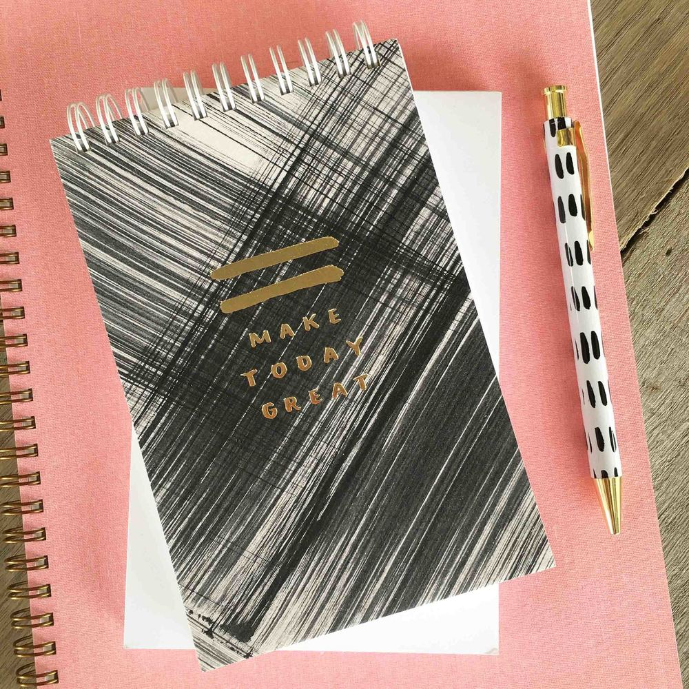 The Make Today Great Jotter from Poppy's Polished  + Productive Collection