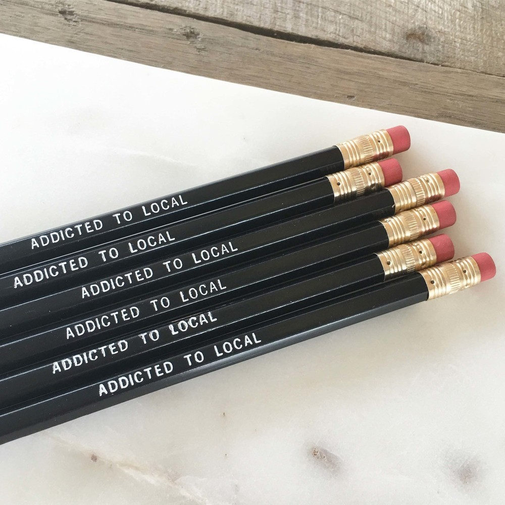 The Addicted to Local pencil set from Poppy's Polished  + Productive Collection