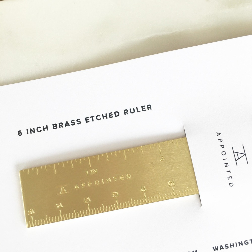 The Brass Ruler from Poppy's Polished  + Productive Collection