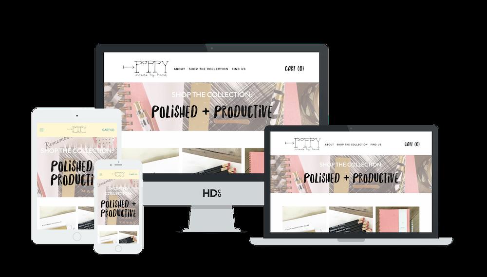 E-commerce Squarespace website design and development   Hoot Design Co.