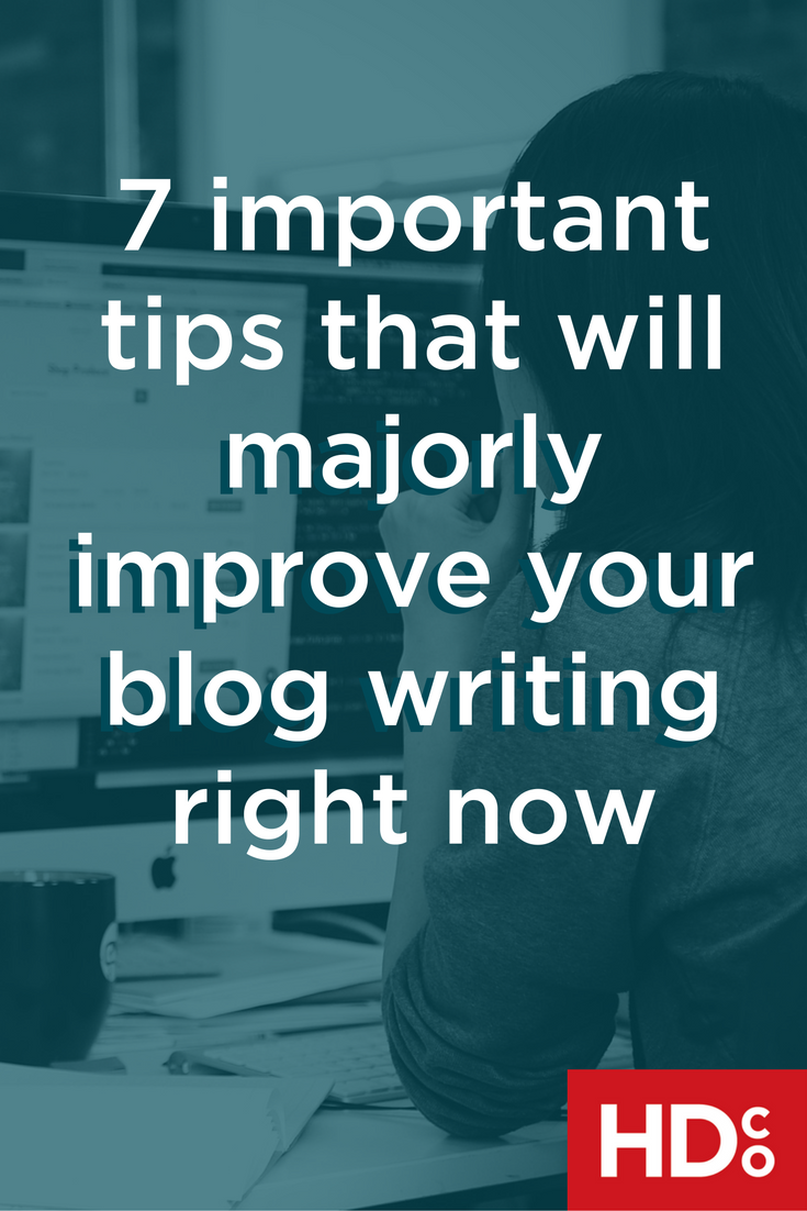 Improve blog writing and web copy in 7 tips | Hoot Design Co.