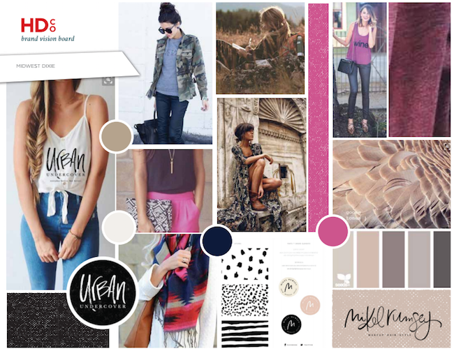 Brand Vision Board for Midwest Dixie