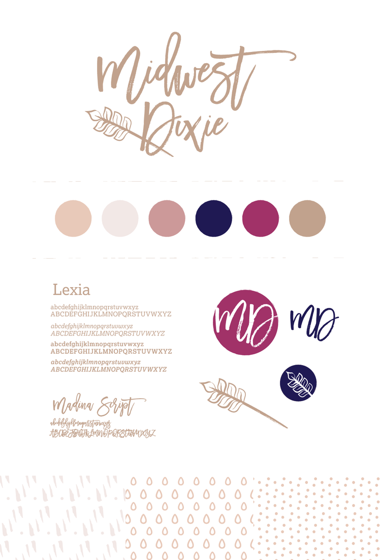 Brand board for Midwest Dixie | Hoot Design Co.