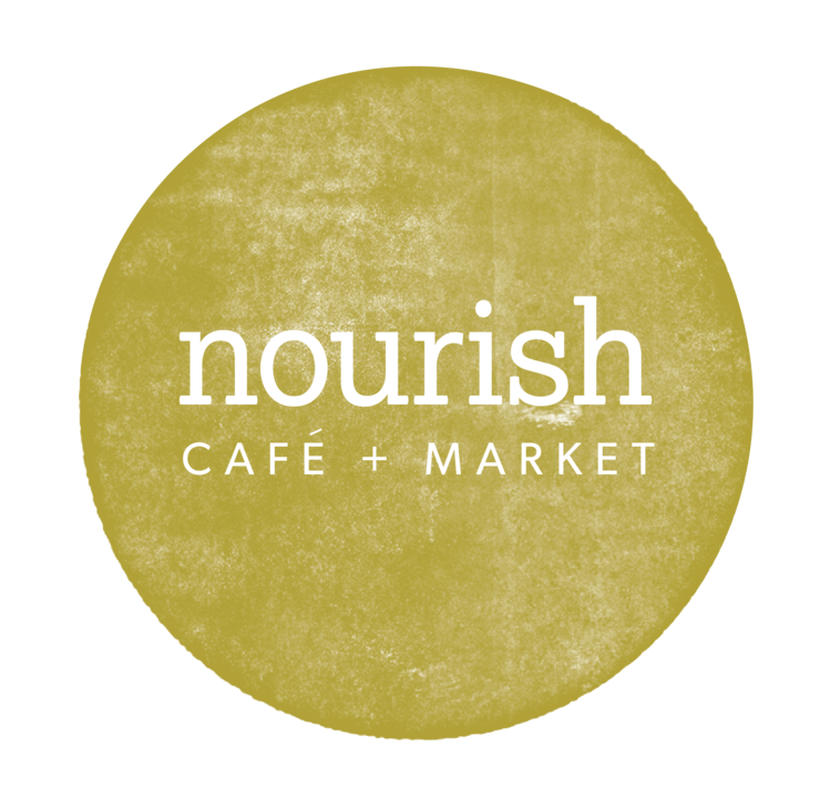 Logo design for Nourish Cafe and Market in Columbia, MO | Hoot Design Co.