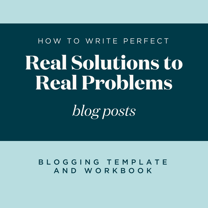 blogging template and workbook perfecting real solutions to real