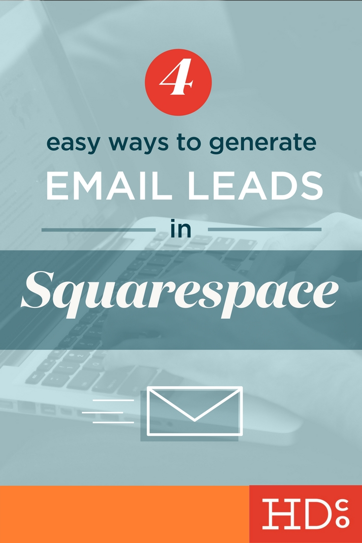Email marketing is alive and well. Here's how to set up newsletter marketing and generate great leads in Squarespace. | Hoot Design Co.