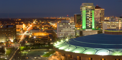 A view of downtown Wichita, Kansas.