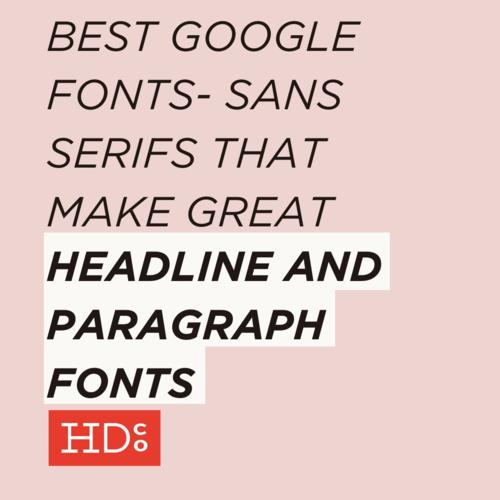 The Best Google Fonts – Serif Edition! • Hoot Design Co  | Web