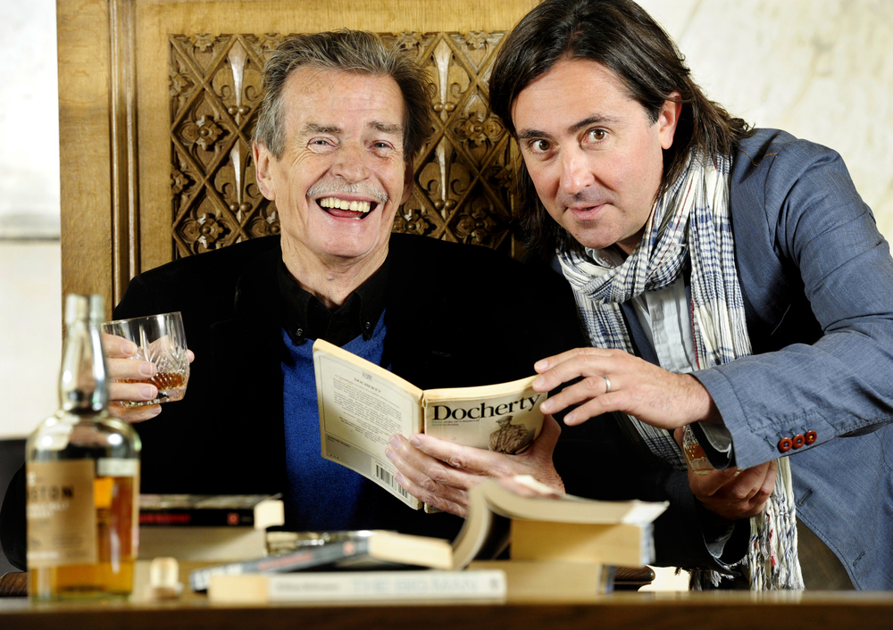 FREE PIC- William McIlvanney and Neil Oliver Stirling 2014 Launch 01.jpg