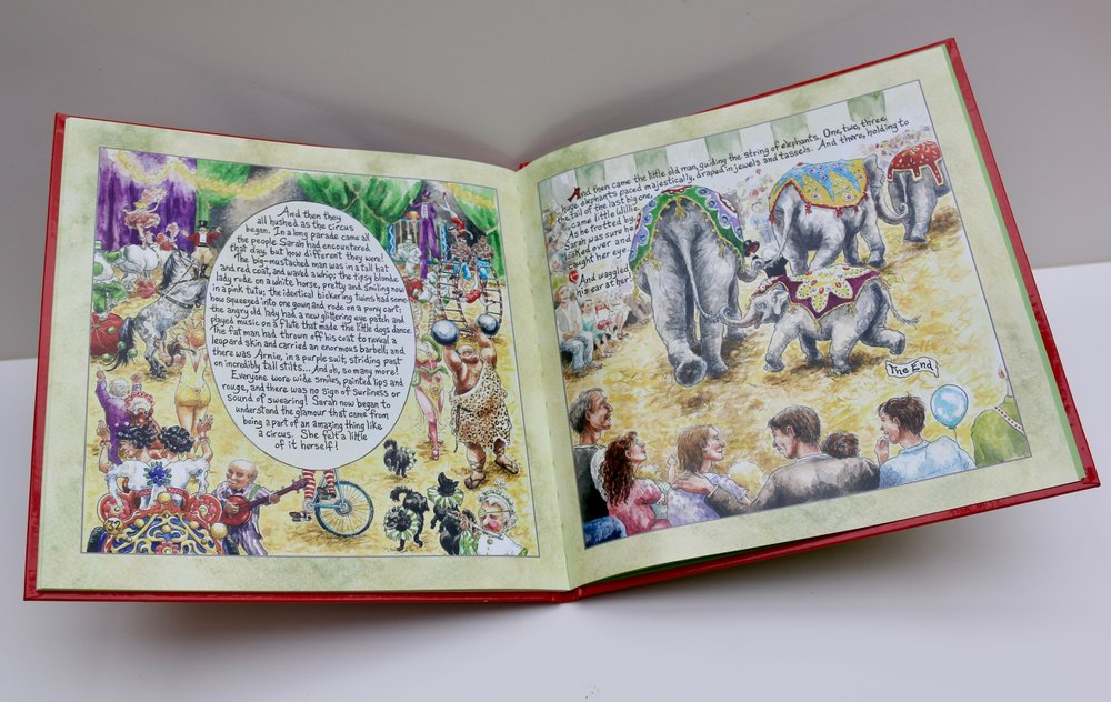 """Inner pages """"Sarah's Circus"""""""