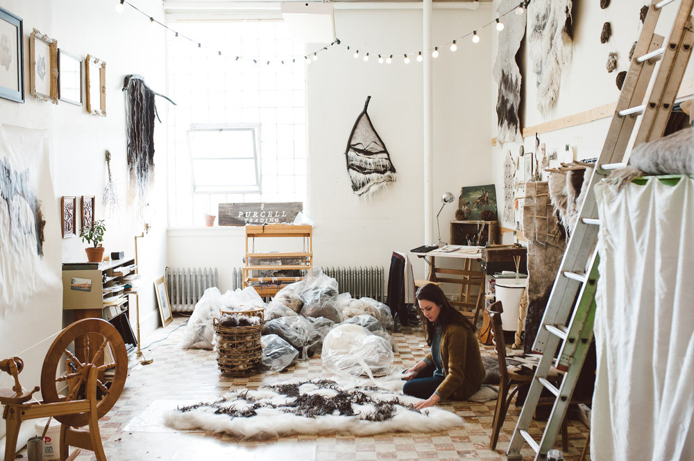 Meghan Purcell in her Livingston, MT studio.  Photo by  Lauren L  Photography