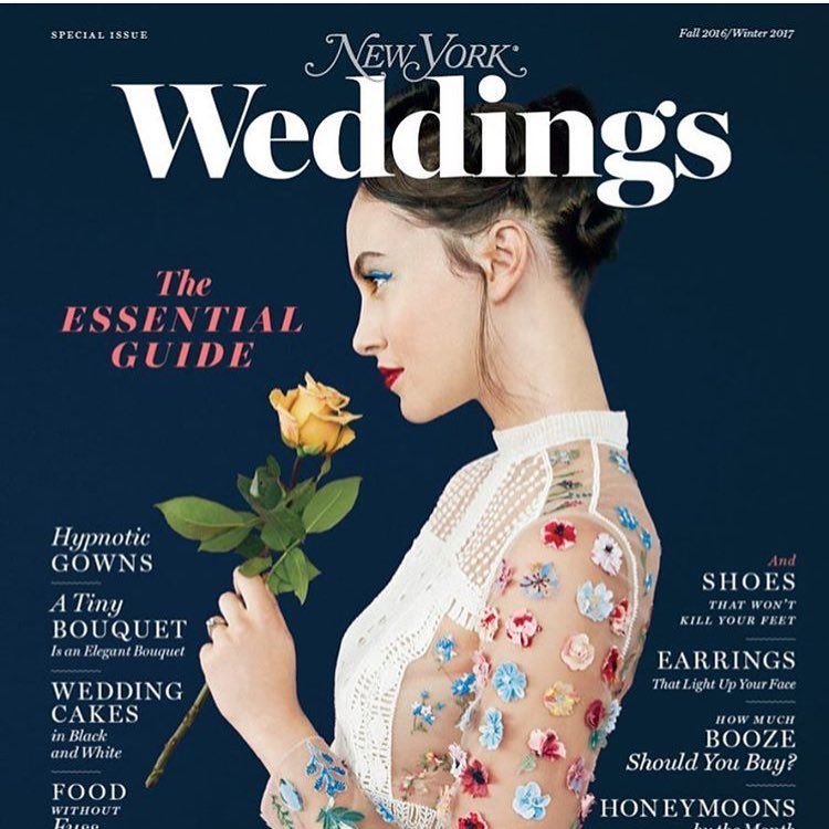 So Pretty 😍😍😍 In The Mood For Love. #Repost @bonniecohen ・・・ Here she is! Our gorgeous Fall/Winter Weddings issue! #Nymag #nymagweddings #newyorkweddings #fridayfeeling #sweetness #instalove #picoftheday #weddinglovers (at New York, New York)