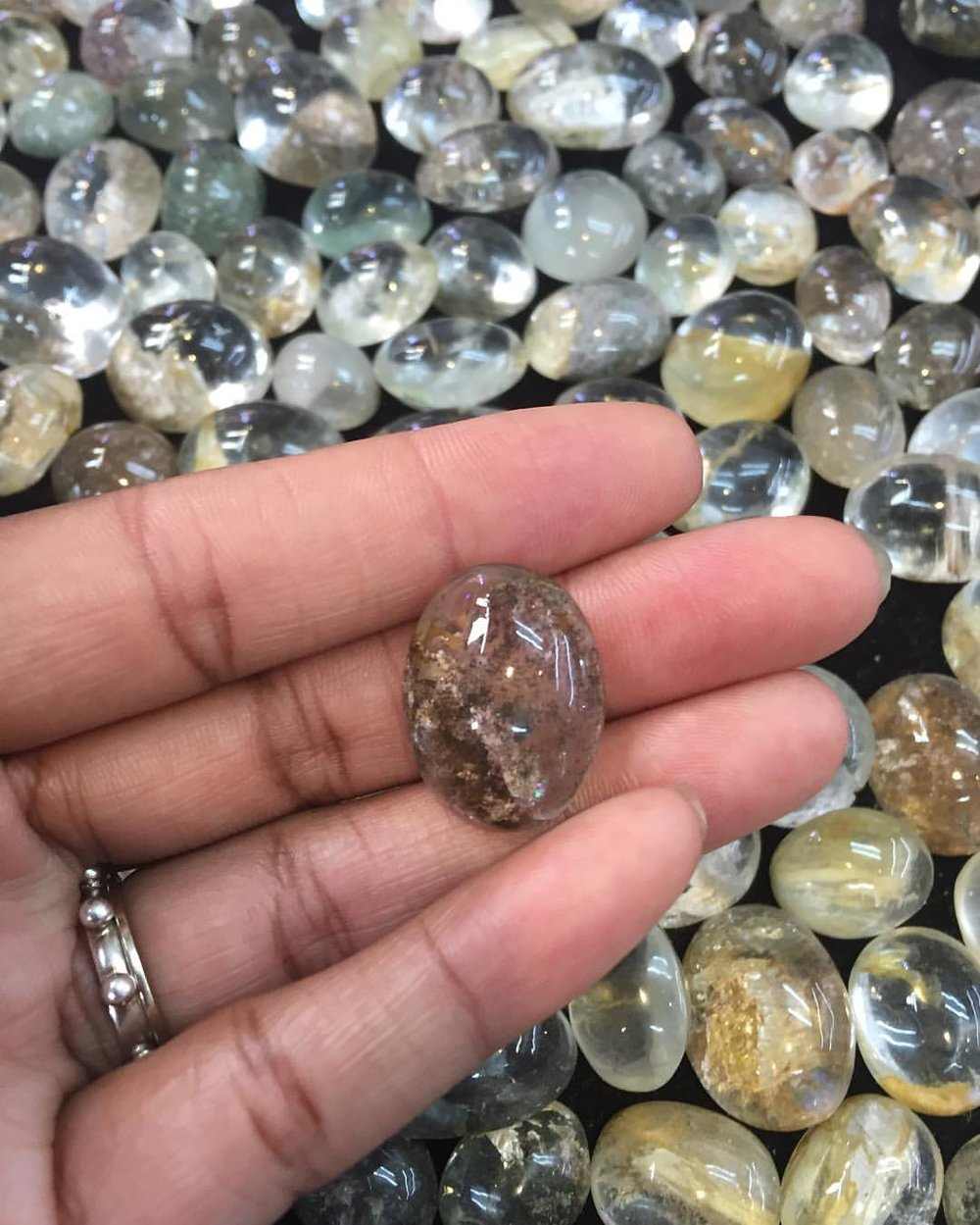 Always in the search of stones. Thai River Stone. Looks like some type of Quartz. For The Love of Siam. #rockhound #crystalover #naturelover #siam #dreamers #musingsbylola #wednesdaymotivation