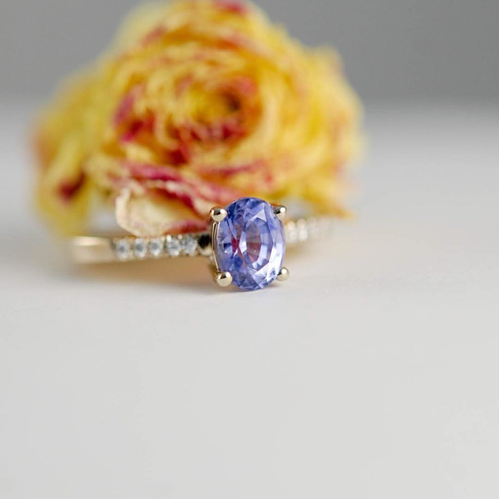 Fall in Love with the Versatility & Beauty of Sapphires this September. #charltonandlola #oneofakind #sapphire #september #birthstone (at New York, New York)