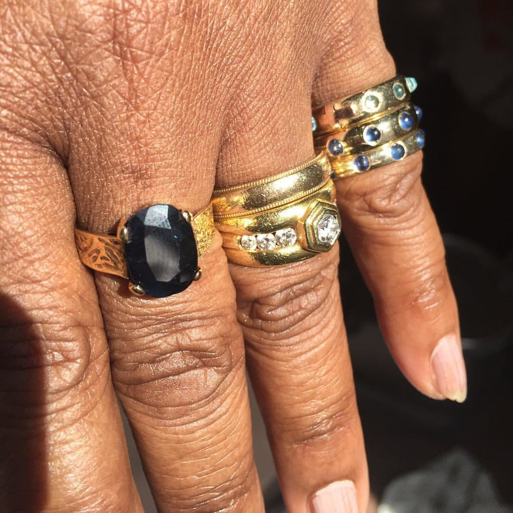 Show Me Your Rings. Mother Edition. She's here to pick up her Jesus piece and give me advice on renovations and life. (at New York, New York)