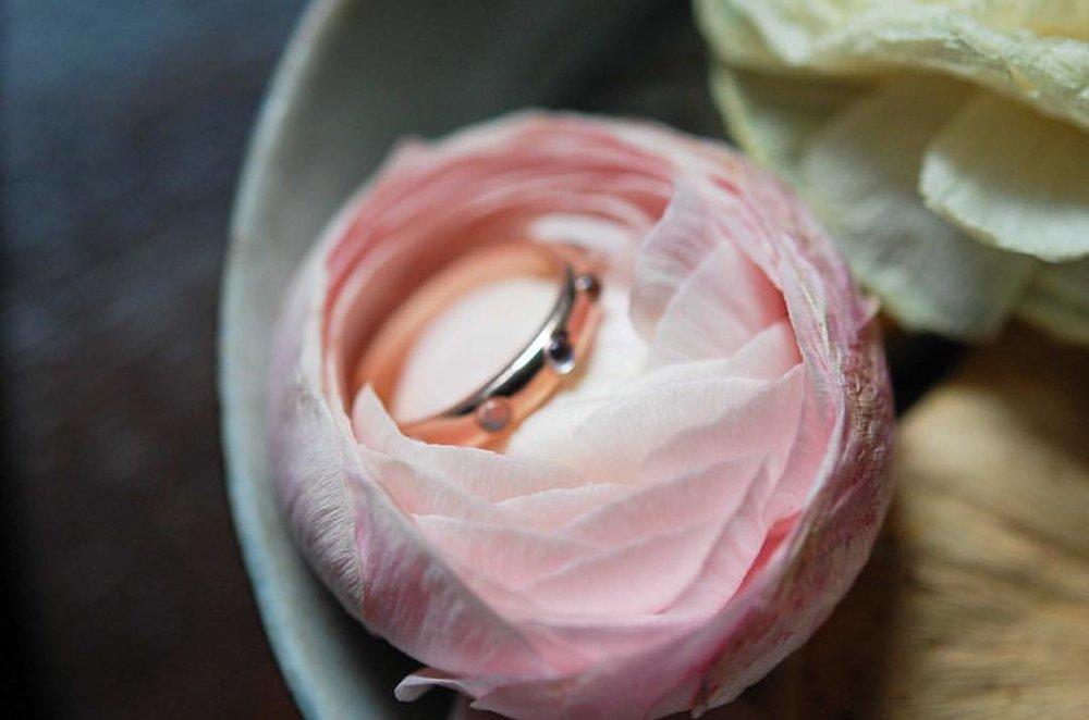 Discover Bliss: our rose gold and rainbow moonstone rings. On the website. #floralinspiration #naturelover #ranunculus #blooms #rosegold #soulfully #meditation #mantra #bliss #charltonandlola #goddess #tribe #stackingrings #jotd (at New York, New York)