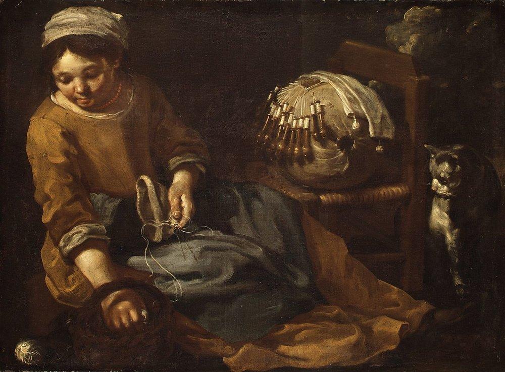 The Lacemaker,Bernhard Keil (Danish, 1624–1687)