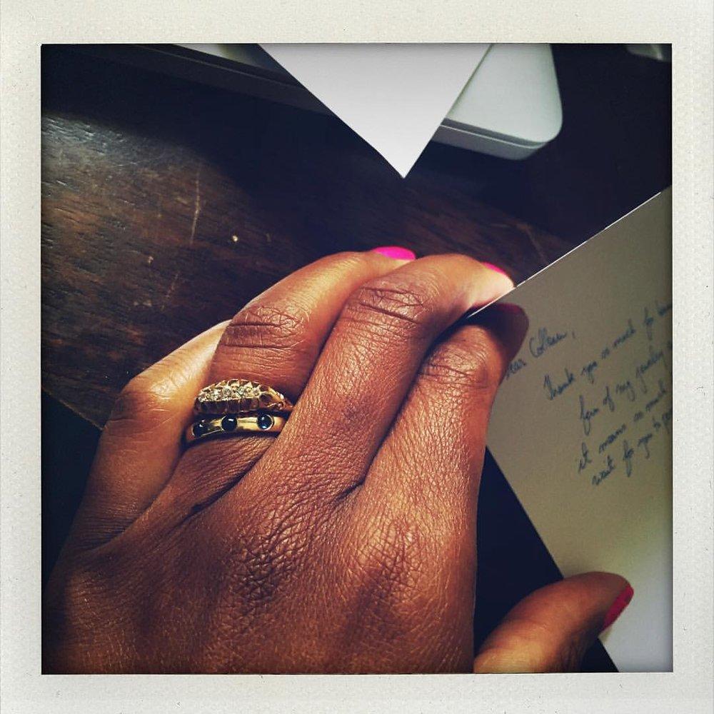 I still love writing personal notes… #charltonandlola #oldworld #romanceoflife #fridayfeeling #heirloom #antiques #stacking #stackingrings #stackingisthenewblack #loveletters #writers #lovers #spiritjunkie #jotd #jewelryaddict #jewelrylover