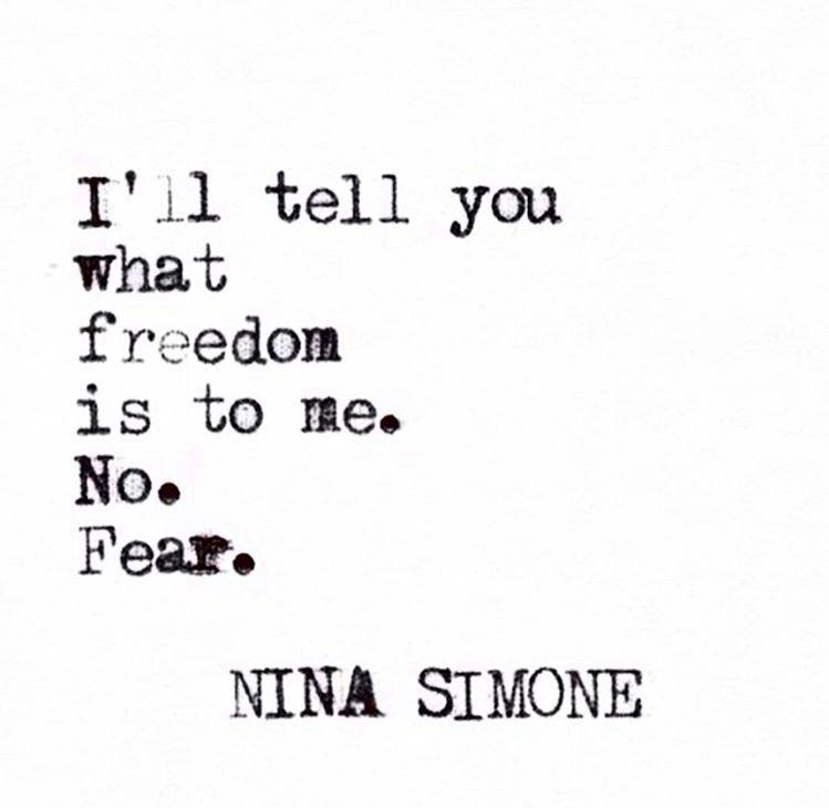 No Fear. Thank you Nina.