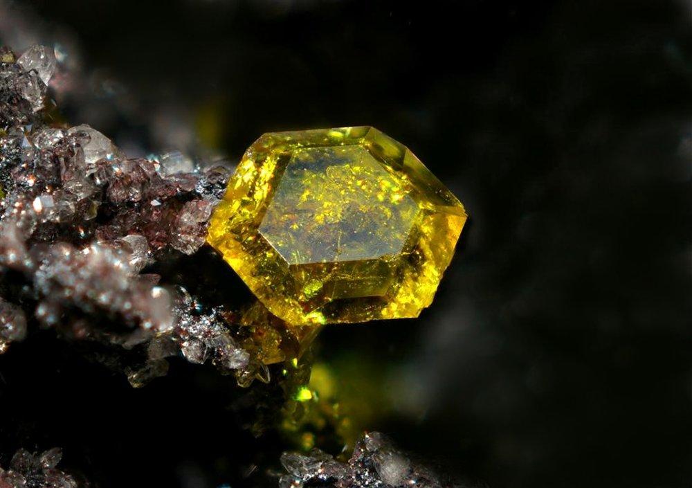 ifuckingloveminerals: Sturmanite N'Chwaning III Mine, N'Chwaning Mines, Kuruman, Kalahari manganese field, Northern Cape Province, South Africa