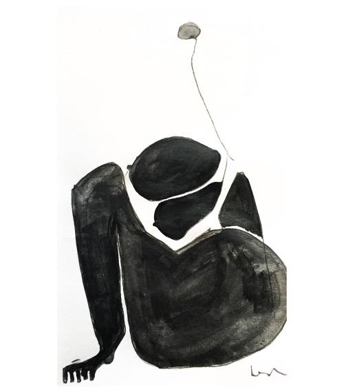 manufactoriel: Woman sitting by Marcus Leslie (2016)