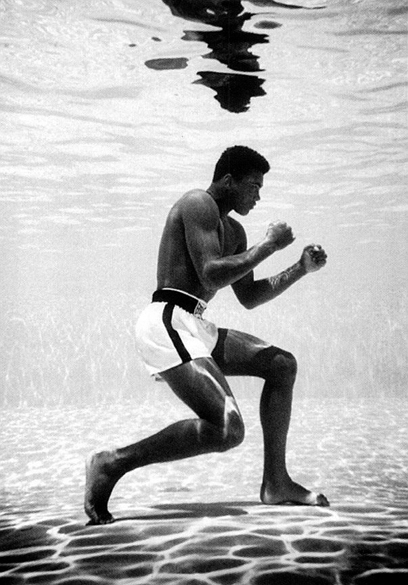 "mempost: Muhammed Ali Underwater shadow boxing ""I know where I'm going and I know the truth, and I don't have to be what you want me to be. I'm free to be what I want."" ~ Muhammad Ali A King. A Prince. A Legend. A Hero. Thank You."