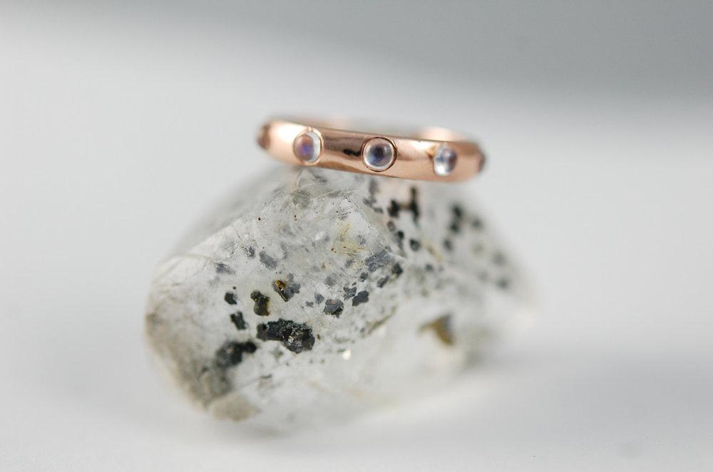 Moonstone and Rose Gold. #charltonandlola